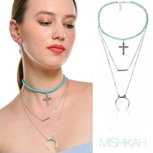 Just In🎉Boho Layered Iron Cross Pendant Necklace